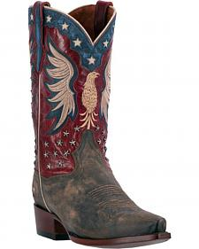 Dan Post Patriotic Bountiful Cowboy Boots - Snip Toe