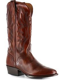 El Dorado Tan Vanquished Calf Cowboy Boots - Round Toe