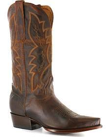 El Dorado Distressed Goat Cowboy Boots - Snip Toe