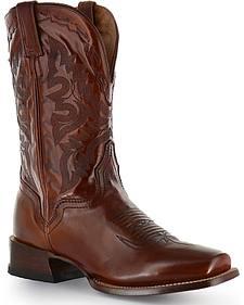 El Dorado Tan Vanquished Calf Cowboy Boots - Square Toe
