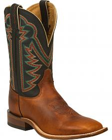Tony Lama Tan Faded Ranch Cowboy Boots - Square Toe