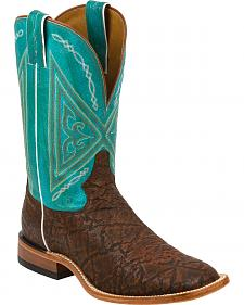 Tony Lama Cognac Dakota Bluff Cowboy Boots - Square Toe