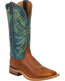 Tony Lama Suntan Rebel Americana Cowboy Boots - Square Toe