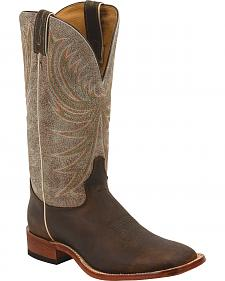 Tony Lama Copper Roughrider Americana Cowboy Boots - Square Toe