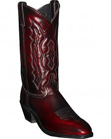 Abilene Black Cherry Dress Cowboy Boots - Square Toe