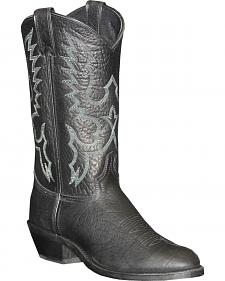 Abilene Sage Black Cowboy Boots - Round Toe