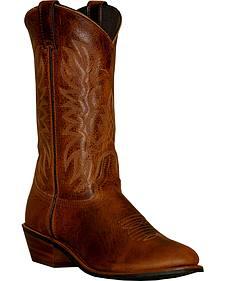 Abilene Sage Dark Brown Cowboy Boots - Round Toe