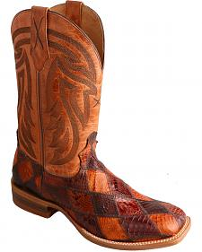 Twisted X Peanut Caiman Rancher Cowboy Boots - Square Toe
