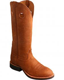 Twisted X Oiled Suede Buckaroo Cowboy Boots - Round Toe