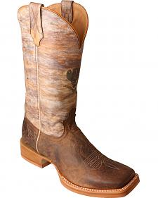 Twisted X Crazy Horse Ruff Stock Cowboy Boots - Square Toe