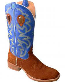 Twisted X Royal Blue Ruff Stock Cowboy Boots - Square Toe