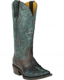 Tin Haul My Blue Heaven Cowgirl Boots - Square Toe