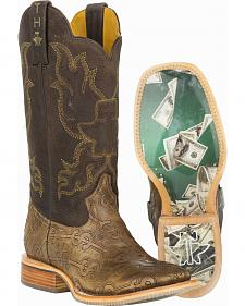 Tin Haul Blue Hawaii Cowboy Boots - Square Toe