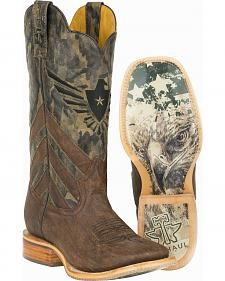 Tin Haul Sergeant at Arms Screaming Eagle Cowboyl Boots - Square Toe