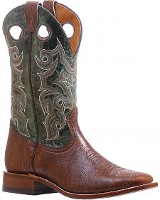 Boulet Turqueza Shoulder Cowboy Boots - Square Toe