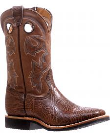 Boulet Brown Shoulder Extralight Cowboy Boots - Square Toe