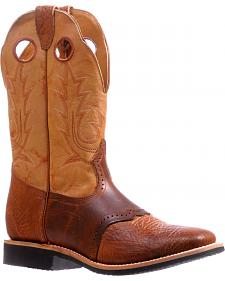 Boulet Cognac Bullhide Extralight Cowboy Boots - Square Toe 5263