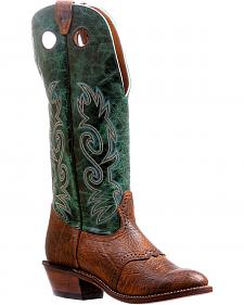 Boulet Buffalo Bill Matte Cowboy Boots - Round Toe