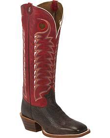 Tony Lama Dusky Bonham 3R Buckaroo Cowboy Boots - Square Toe
