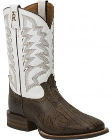 Tony Lama Men's Wax Uvalde 3R Stockman Cowboy Boots - Square Toe