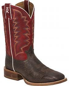 Tony Lama Cafe Bonham 3R Stockman Boots - Round Toe
