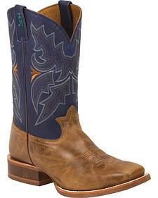 Tony Lama Honey Sierra 3R Stockman Cowboy Boots - Square Toe