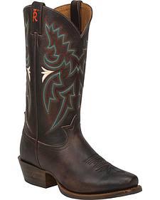 Tony Lama Chocolate Frio 3R Western Cowboy Boots - Snip Toe