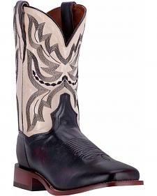 Dan Post Men's Black Cherry Ezra Cowboy Boots - Broad Square Toe