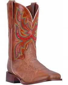Dan Post Men's Tan Ezra Cowboy Boots - Broad Square Toe
