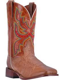 Dan Post Men's Tan Ezra Cowboy Boots - Broad Square Toe