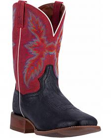 Dan Post Men's Black Clark Cowboy Boots - Broad Square Toe