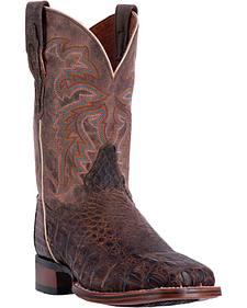 Dan Post Men's Brown Denver Cowboy Boots - Broad Square Toe