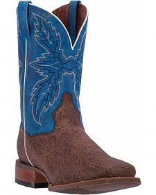 Dan Post Men's Chocolate Clark Cowboy Boots - Broad Square Toe