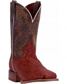 Dan Post Men's Cognac Clark Cowboy Boots - Broad Square Toe