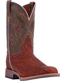 Dan Post Men's Cognac Odessa Cowboy Boots - Wide Round Toe