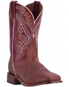 Dan Post Men's Copper Crockett Cowboy Boots - Broad Square Toe