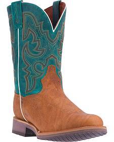 Dan Post Men's Tan Odessa Cowboy Boots - Broad Round Toe