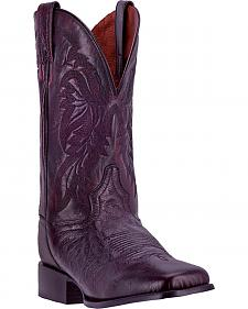 Dan Post Men's Black Cherry Callahan Cowboy Boots - Broad Square Toe