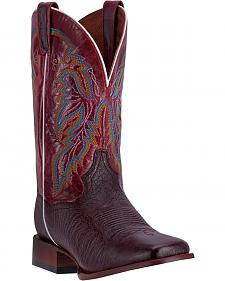Dan Post Men's Brown Smooth Ostrich Callahan Cowboy Boots - Broad Square Toe