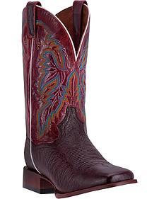 Dan Post Men's Brown Smooth Ostrich Callahan Cowboy Boots - Broad Square Toe