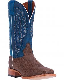 Dan Post Men's Chocolate Bradey Cowboy Boots - Broad Square Toe