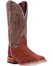 Dan Post Men's Cognac Bradey Cowboy Boots - Broad Square Toe