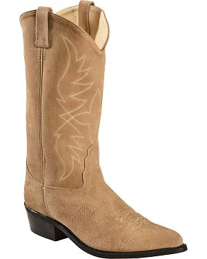Old West Roughout Suede Cowboy Boots