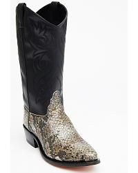 Old West Snake Print Cowboy Boots at Sheplers