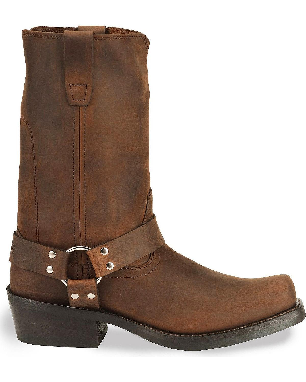 Durango Men S Harness Cowboy Boot Square Toe Db594 Ebay