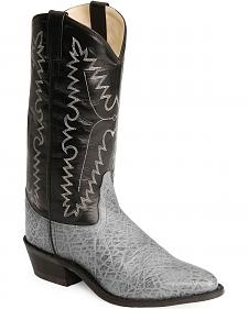 Old West Elephant Print Cowboy Boots