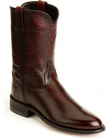 Old West Leather Roper Cowboy Boots