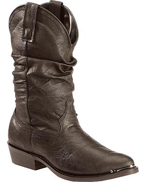 Dingo Slouch Cowboy Boots - Round Toe