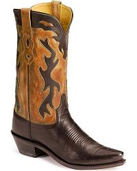 Old West Black Fashion Cowboy Boots at Sheplers