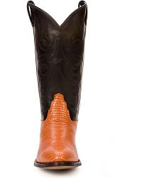 Old West Lizard Print Cowboy Boots at Sheplers
